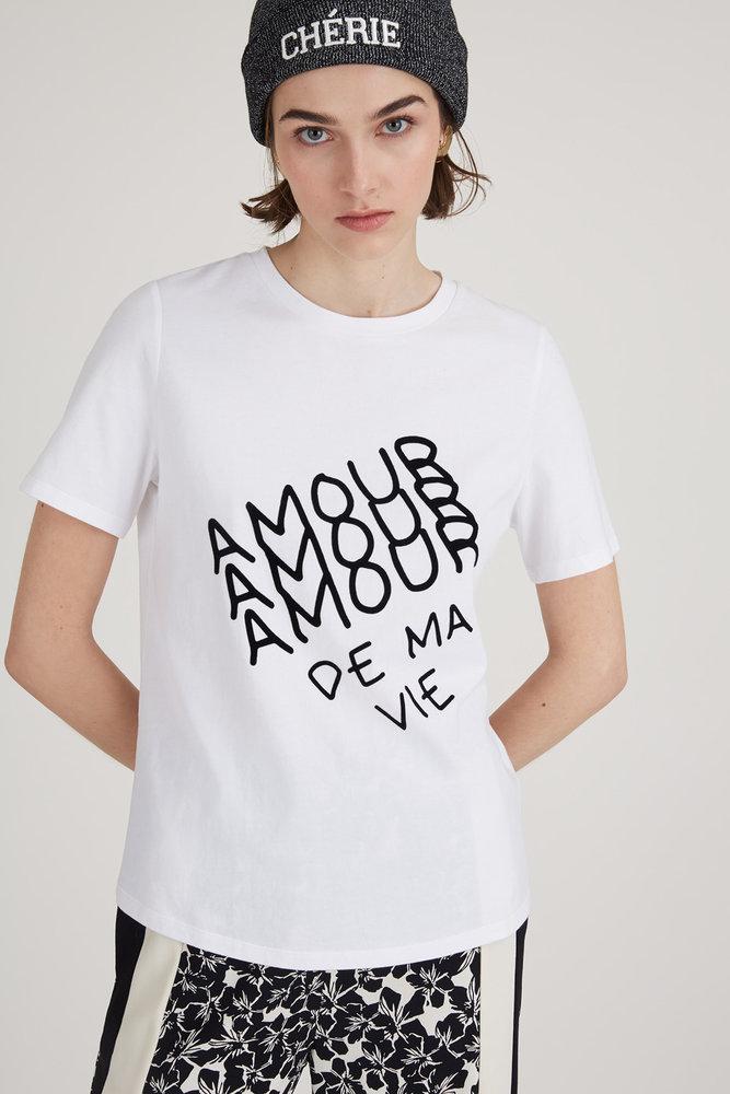 Tee-shirt Mao en coton Amour de ma vie