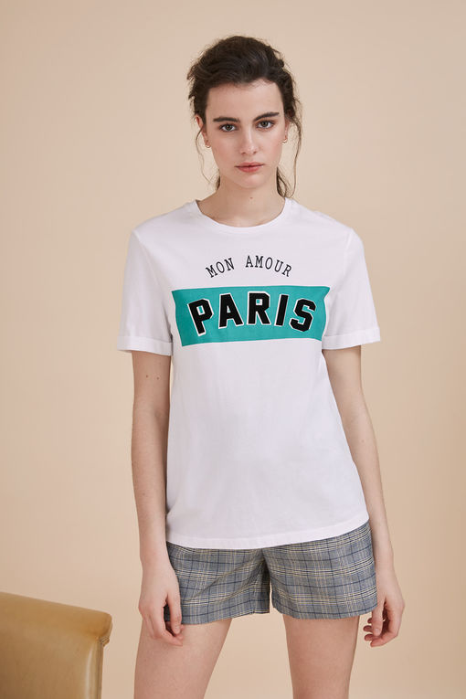 T-shirt blanc Max - MON AMOUR PARIS