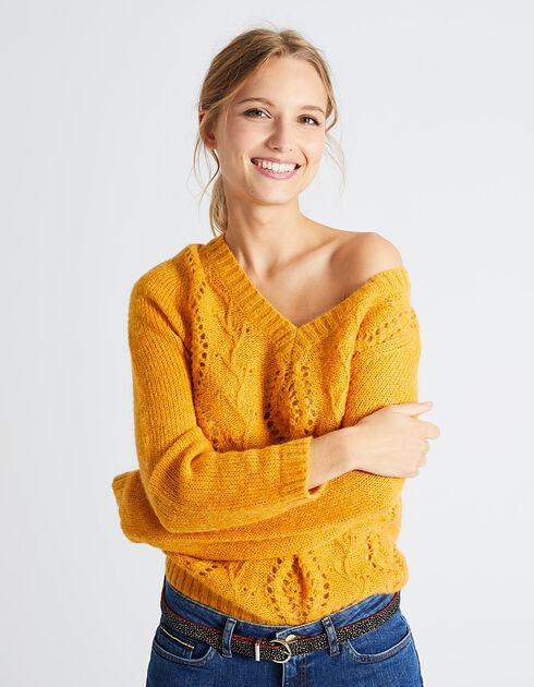 Pull jaune femme I.Code