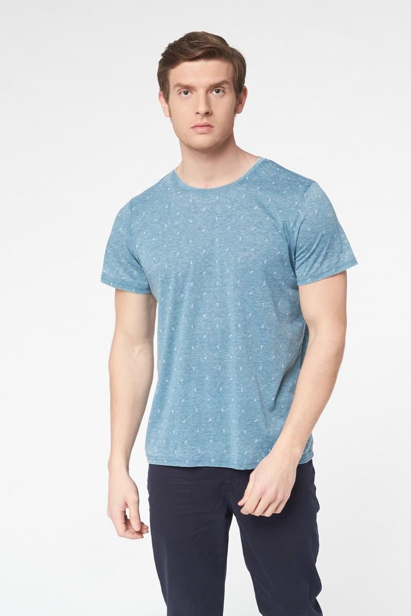 T-shirt imprimé - Bleu - Best Mountain