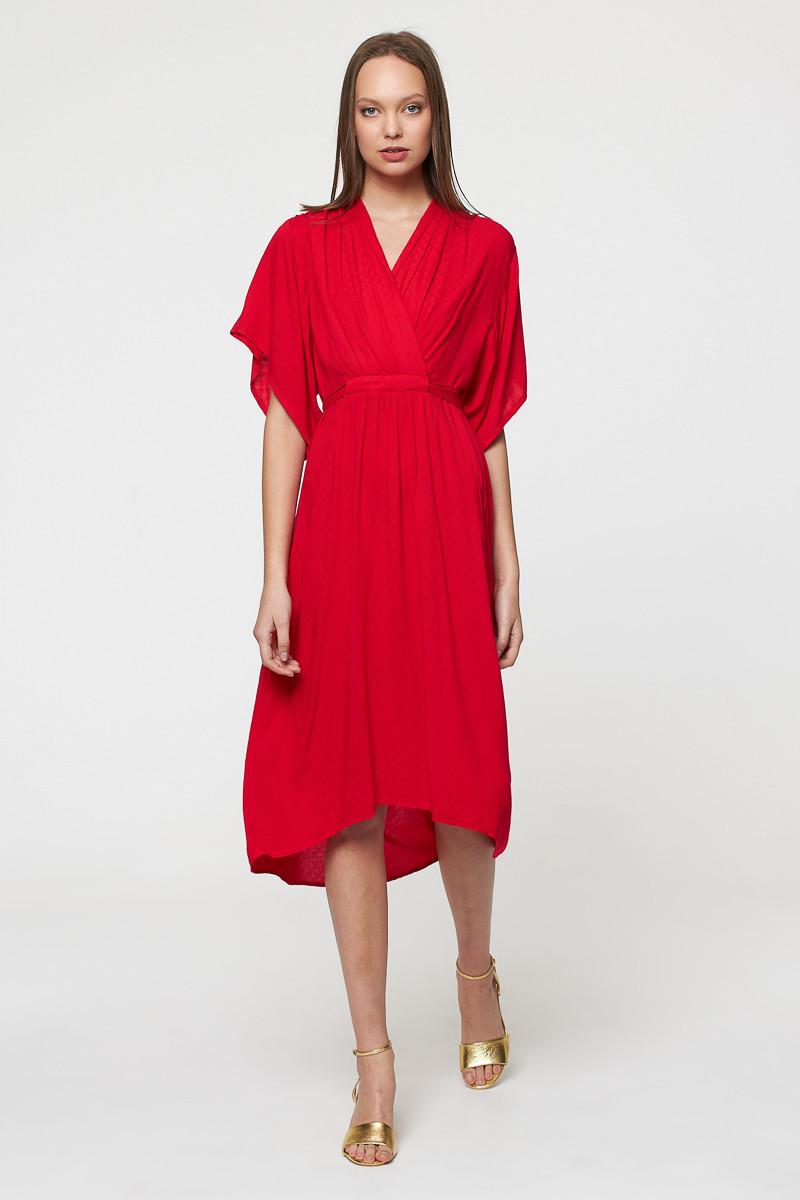 Robe longue - jacquard rouge - Best Mountain