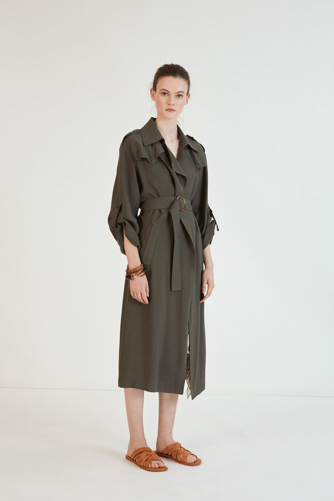 Eddy - Trench coat kaki - Suncoo