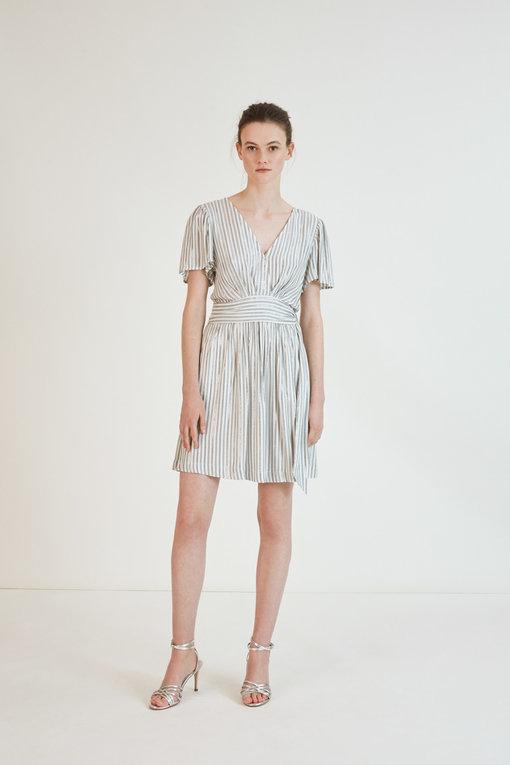 Robe court - Celana - imprimé rayures lurex - Suncoo
