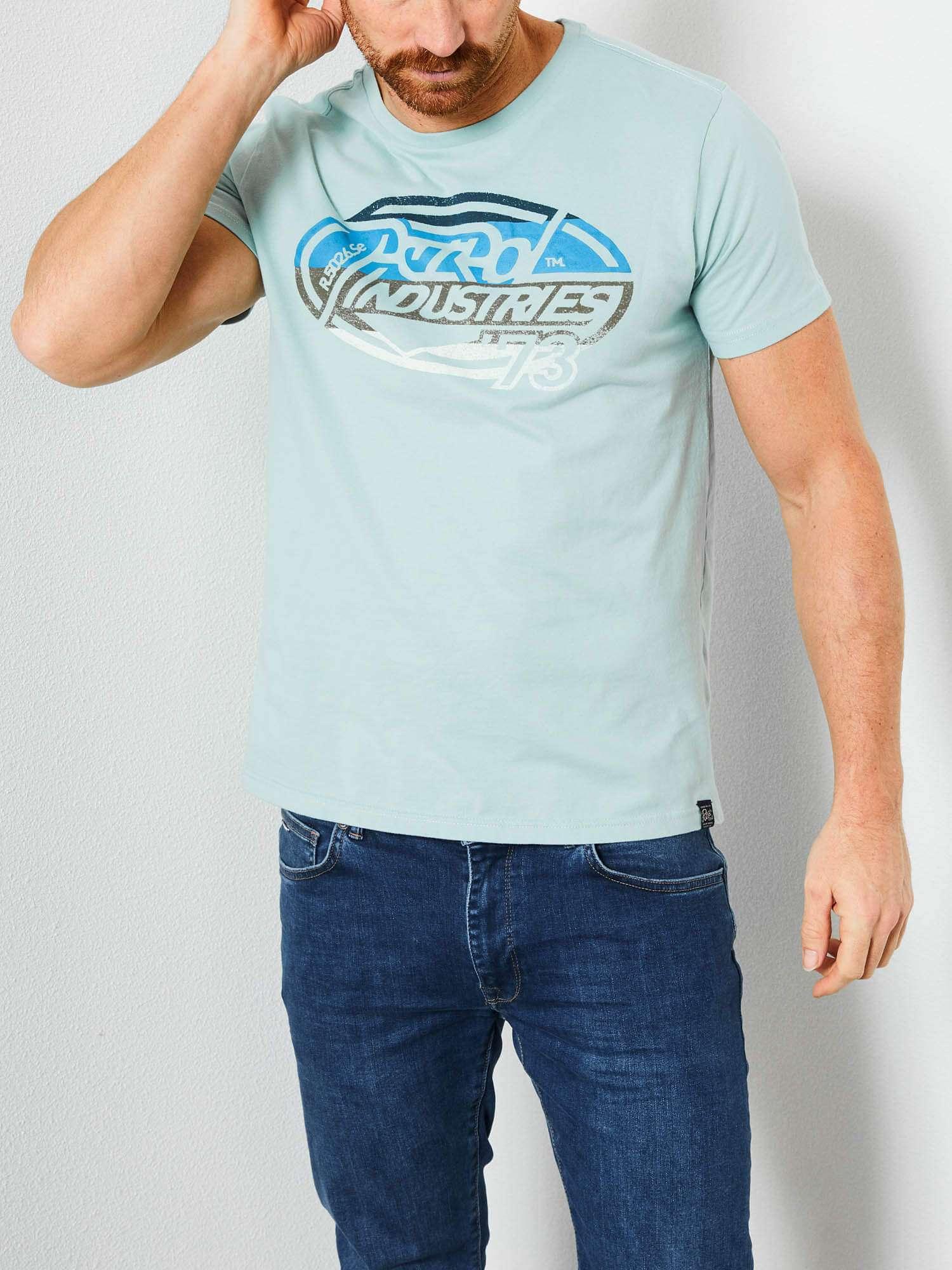T-shirt vert d\'eau - logo - Petrol Industries