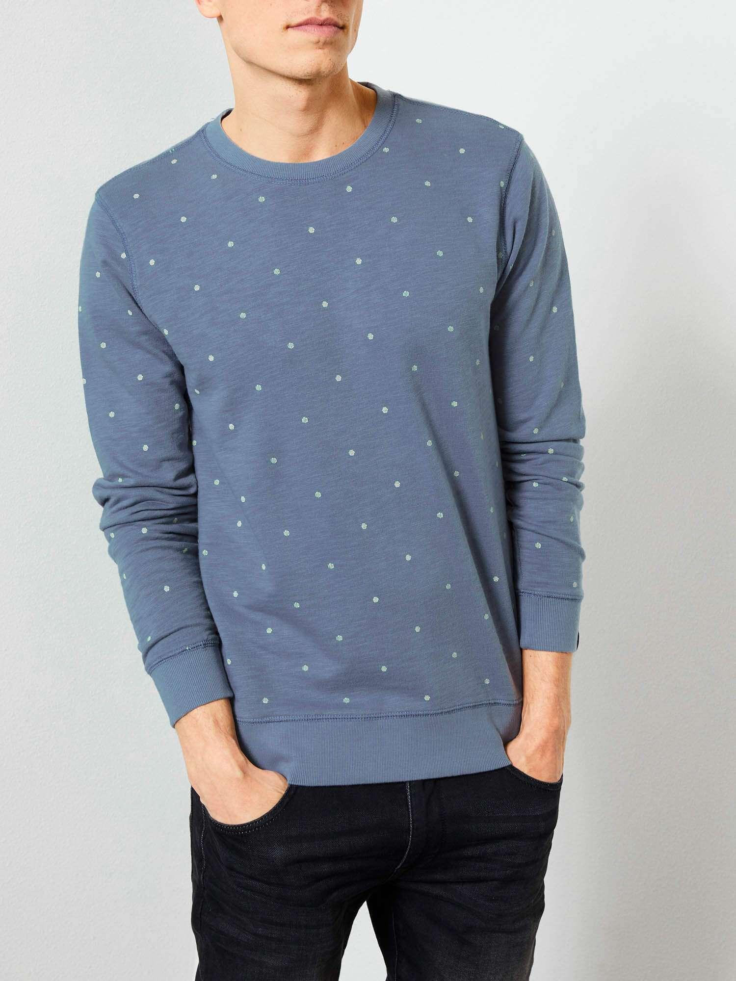 Sweat-shirt bleu - imprimé - Petrol Industries
