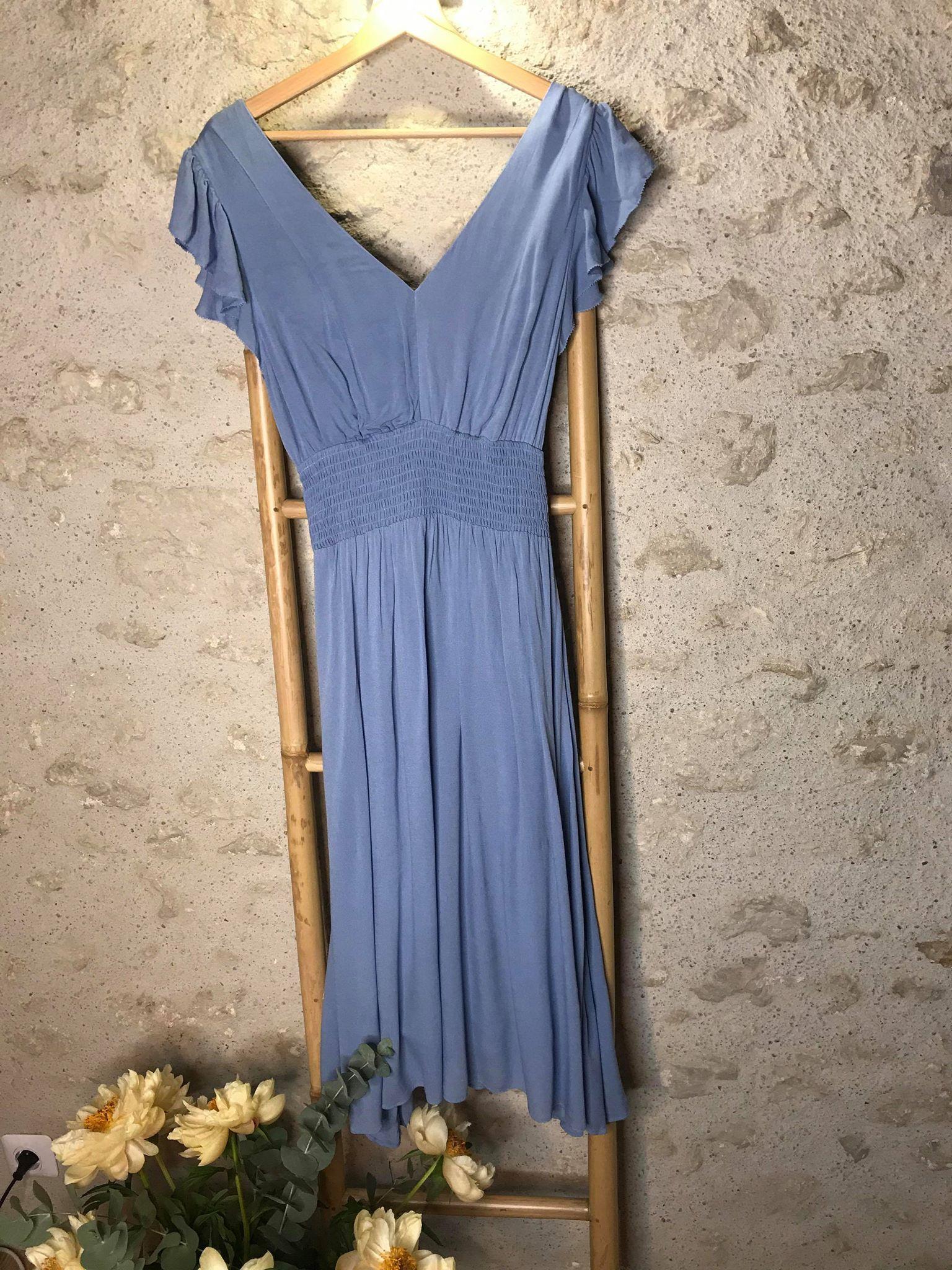 Robe longue Costa - bleu ciel - Suncoo