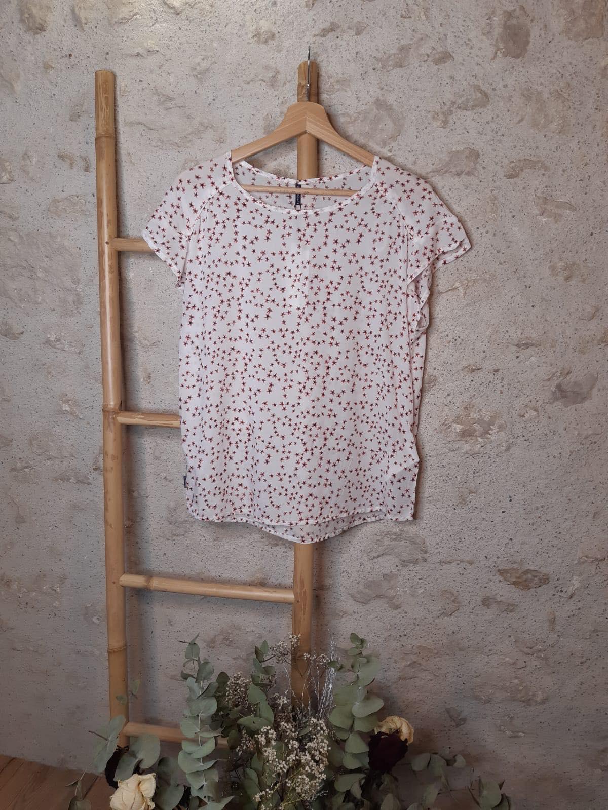 T shirt fleuri revilla - blanc - Sun Valley