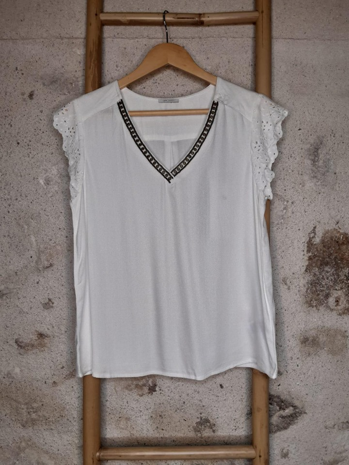 Top perlé - blanc - IKKS