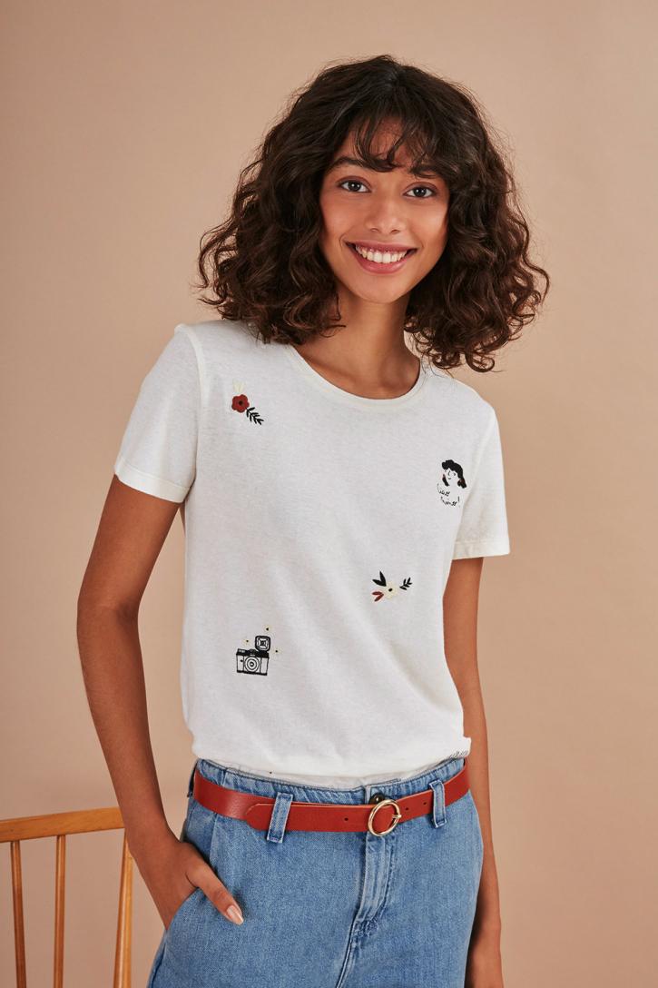 Tee-shirt écru - Jilou - Des petits hauts