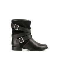 Boots à sangles NATALYA Noir Hauteur de tige de 18,5 cm