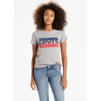 "Tee shirt femme levis gris ""THE PERFECT GRAPHIC TEE"""