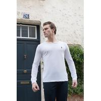 Tee-shirt manche longue ralph lauren blanc