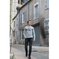 Calvin Klein - T-Shirt Manches Longues Gris