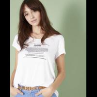 Tee-shirt blanc PIPLETTE I.Code