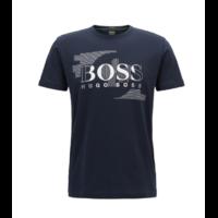 T-shirt à col ras-du-cou en jersey simple de coton Modèle Tee 1 Bleu foncé