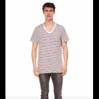 Tee-shirt Col V Rayé