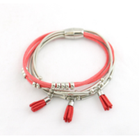 Bracelet aimanté multi-liens ressort façon daim