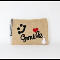 """sac à main Pochette pompon coeur """"Smile"""""""