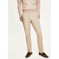 Pantalon en coton et popeline élastique beige HACKETT