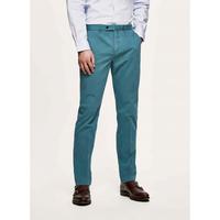 Pantalon chino en coton élastique bleu HACKETT