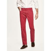 Pantalon chino en coton élastique rouge HACKETT