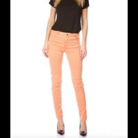 Pantalon Taille Haute Slim orange