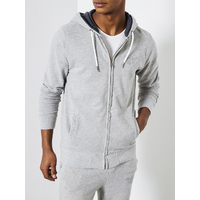 Sweat petrol zip gris