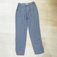 Pantalon fluide à motifs bleu