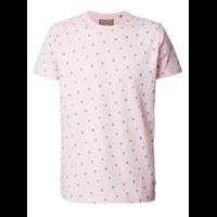 Tee shirt rose à motifs