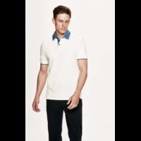 Polo en chambray de coton à manches courtes HACKETT