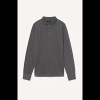 Polo à manches longues en coton mélangé et H en tweed HACKETT