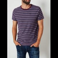 Tee shirt à rayures bordeaux