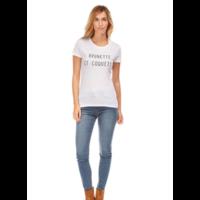 Tee Shirt Message Imprimé Tee shirt manches courtes col rond coton message imprimé