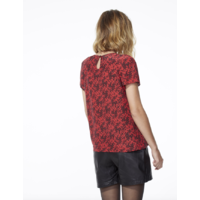 Top camouflage rouge femme IKKS