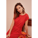 1E210041 AGRIPPINE Robe 05144 TOMATE 1