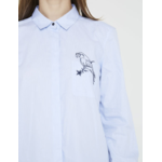 Chemise perroquet femme bleu ciel IKKS 2