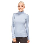 PLW28188F PULL COL ROULE CASHMERE AVEC COUDIE ORAG 1
