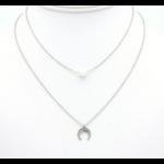 collier 0119147-13 lune acier inoxydable-perle acrylique 1