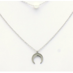 collier 0119147-13 lune acier inoxydable-perle acrylique 2