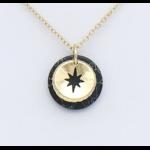 Collier métal-pierre reconstituée noir : collier0119152-01mtal-pierrereconstitue 2