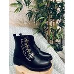 Boots noires à lanières 1