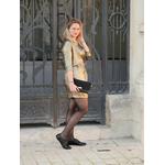 robe mira croisée dorée 3