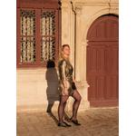 robe mira croisée dorée 5