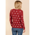sweewe-pull-femme-a-pois-dark_red-2