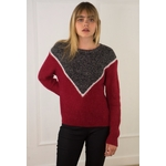 sweewe-pull-col-rond-colorblock-red-1