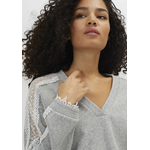IKKS-SWEAT GRIS CLAIR CHINE _ BANDES DENTELLE I_CODE-QQ15024-22_4