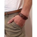 Bracelet tresse simple - marron - Petrol Industries 1