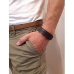 Bracelet plaque fine - Marron - Petrol Industries1