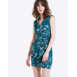 IKKS-ROBE CINTREE DRAPEE IMPRIME PALM JUNGLE FEMME-BQ30425-57_2