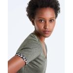 IKKS-TEE_SHIRT LIN KAKI REVERS MANCHES LEOPARD FEMME-BQ10245-56_4